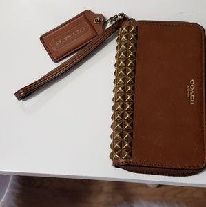 Coach Leather wristlet/ wallet